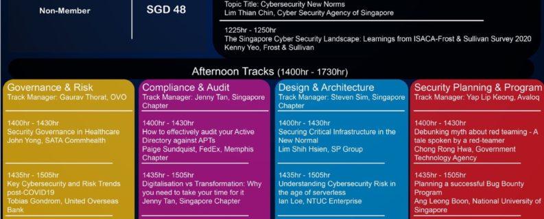 ปรากฏการณ์ในการอบรมหลักสูตรสากล Online กับ ISACA Singapore Chapter ในงาน GTACS 2020 หัวข้อเรื่อง Cyber Resilience to Confidence โดยผู้เชี่ยวชาญ วันที่ 28 สิงหาคม 2563